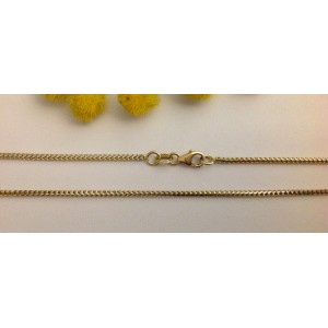 18kt White and Yellow Solid Gold Chain - gr. 4.7