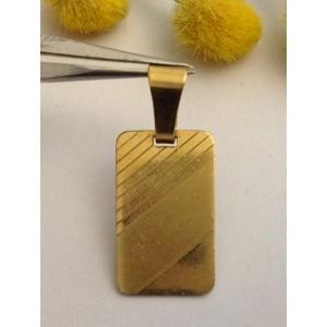 Medaglietta per incisioni in oro giallo 18kt - gr. 1.97