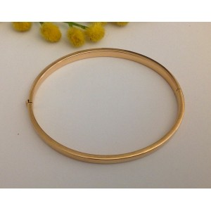 18kt solid gold rose bracelet
