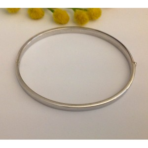18kt solid white gold bracelet