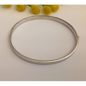 Жёсткий браслет из белого золота - 18 кт.