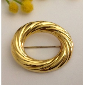 18kt Solid Gold Brooch - gr. 10