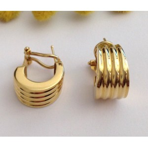 18kt solid gold round earrings