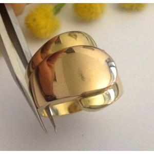 Кольцо из жёлтого розового золота 18kt - gr. 12