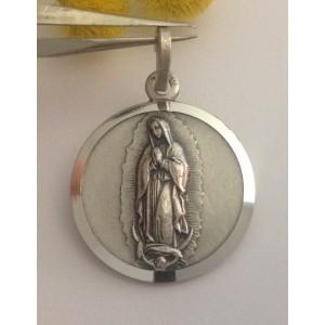 Медаль - Дева Мария Гваделупская - из серебра 925