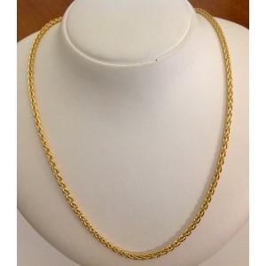"""18kt Solid Gold """" Cord Link """" Necklace """"  gr. 23"""
