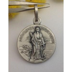 "925 Sterling Silver  "" Saint Filomena "" Medal"