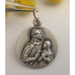 "Medaglietta "" Sant' Anna "" in Argento 925 millesimi"