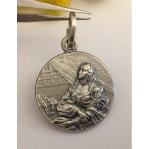 "925 Sterling Silver "" Saint Agata "" Medal"