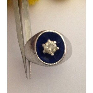 Старинное кольцо из белого золота с бриллиантом - gr. 4.9