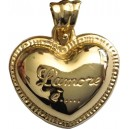 18kt Solid Gold Heart Pendant gr. 2.95