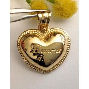 Подвеска - сердце - из жёлтого золота 18 кт - gr. 2.95