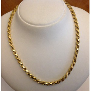 18kt Yellow and White Solid Gold Necklace - gr. 20.8