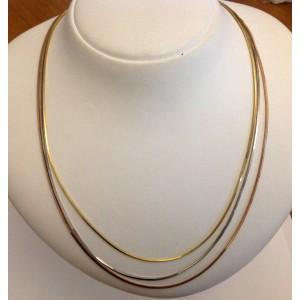 18kt Solid Gold 3 Wires Necklace - gr. 11.54