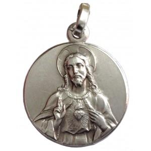 "925 Sterling Silver "" Sacred Heart of Jesus "" Medal"