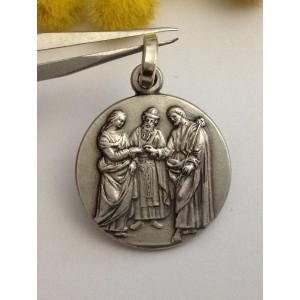 Медаль - Брак - из серебра 925