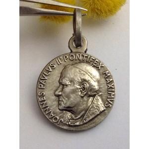 """Medaglietta """" Santo Papa Giovanni Paolo II """" in Argento 925 millesimi"""