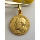 """Medaglietta """" Beato Papa Giovanni Paolo II """" in Argento 925 Placcata oro"""