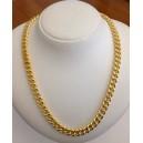 Catena Unisex maglia grumetta in argento 925 Placcata oro