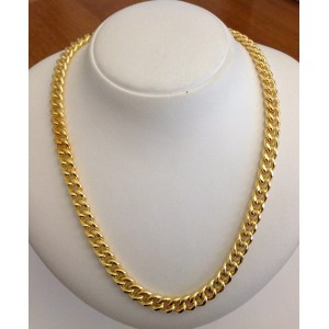 925 Sterling Silver Gold Plated Unisex Chain