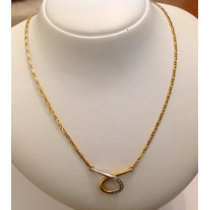 Girocollo in oro giallo 18kt con Diamantini - gr. 10.54