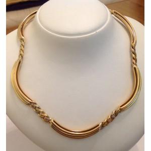 Ожерелье из жёлтого белого розового золота - 18 кт - gr. 84.7
