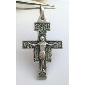 Крест - Св. Дамиан - из чистого серебра