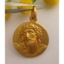"""Medaglietta """" Ecce Homo """" in Argento 925 Placcata oro"""