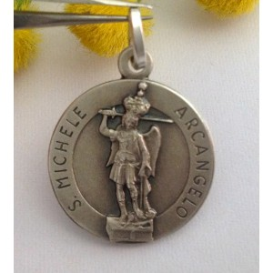"925 Sterling Silver "" Saint Michael the Archangel "" Medal"