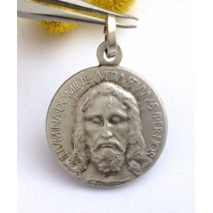 "925 Sterling Silver "" Holy Face ""  Medal"