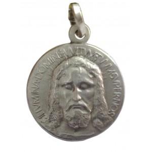 Медаль с ликом святого из серебра 925