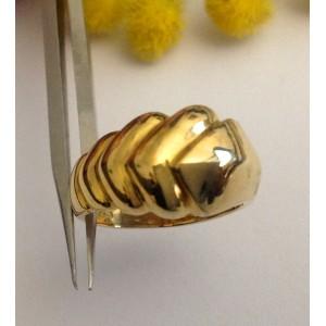 18kt Solid Gold Ring - gr. 6.62