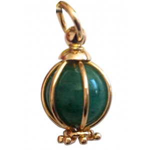 18kt Solid Gold Pendant with Jade - gr. 5.3