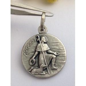 "Medaglietta "" San Rocco "" in argento 925 millesimi"