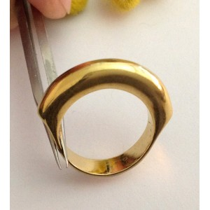 18kt Solid Gold Ring - gr. 7.6