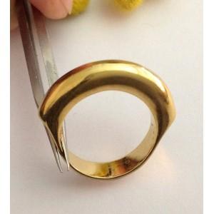 Кольцо из жёлтого золота 18kt - gr. 7.6