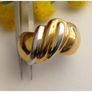 18kt Solid Gold Ring - gr. 8.83
