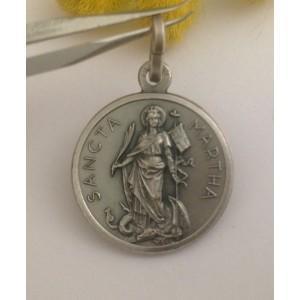 """Saint Martha"" 925 Sterling Silver Medal"