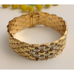 18kt Solid Gold Vintage Bracelet - gr. 43.88