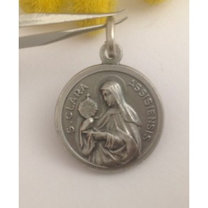 """Saint Claire"" 925 Sterling Silver Medal"