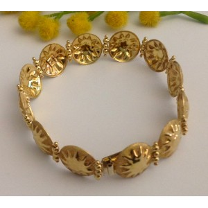 18kt Solid Gold Bracelets with Suns- gr. 11.18