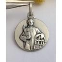 Медаль - Св. Лаврентий - из серебра 925
