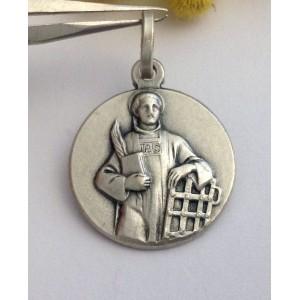 "925 Sterling Silver "" Saint Lorenz "" Medal"