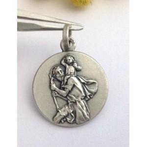 "925 Sterling Silver "" Saint Christopher "" Medal"