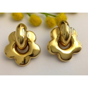 18kt Solid Gold Earrings - gr. 11.58