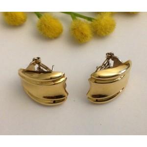 18kt Solid Gold Earrings - gr. 7.25