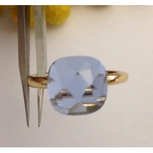 Кольцо из жёлтого золота с голубым топазом 18 kt - gr. 6.44