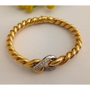 18kt Solid Gold Bracelet with Diamonds - gr. 41.89