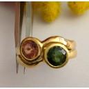Anello in oro Giallo / Rosa 18kt con Tormaline - gr.