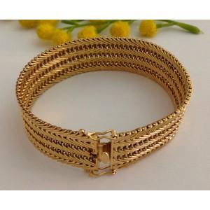 18kt Solid Gold Vintage Bracelet - gr. 48.22